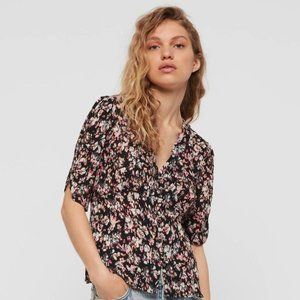 ALLSAINTS Kota Freefall Floral Blouse S NWT $135